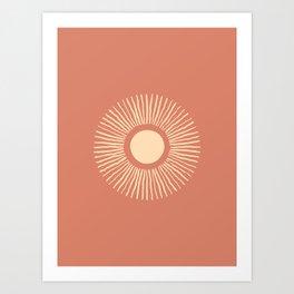 Sun Burst - Dust Pink Art Print