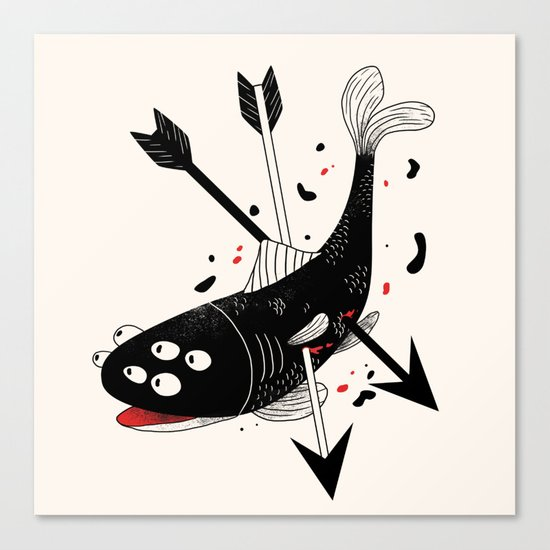 darkwood fish Canvas Print