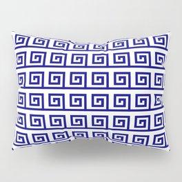 Antic pattern 19- roman or greek pattern - blue Pillow Sham