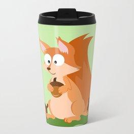 Woodland Animals Serie I. Squirrel Metal Travel Mug