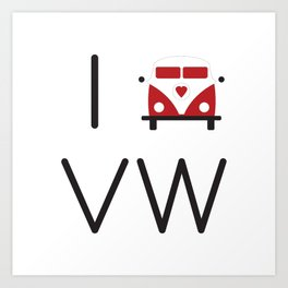 I heart Campervans Art Print