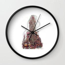 Flat Iron Building Wall Clock