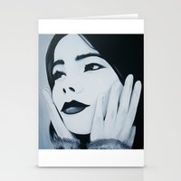 bjork Stationery Cards featuring Bjork Muse by ByrneDarkly