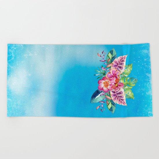 Tropical Jungle Flowers - Aloha Beach - on #Society6 Beach Towel