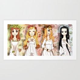 the 4 Seasons Art Print