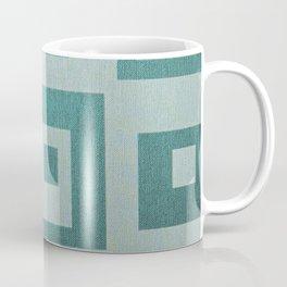 Retro,1950's pattern,geomtric,metallic,teal,tourquise,beautiful,glam,elegant,chic,vintage,pattern Coffee Mug