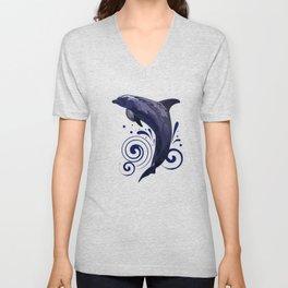 Dolphin - Night Unisex V-Neck