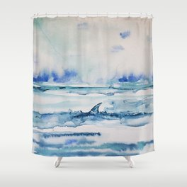 Gliding in shallow water Shower Curtain