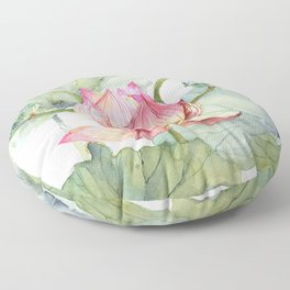 Lotus Metaphor for Feminine Beggining Floor Pillow