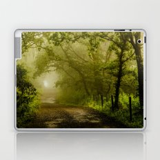Misty Woodland Lane Laptop & iPad Skin