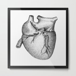 Heart - pen & ink Metal Print