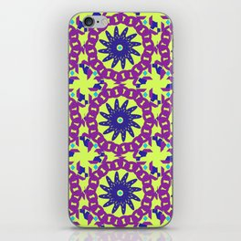 Chained Link Purple Spiral Flowers iPhone Skin