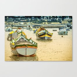 Valletta Boats  Canvas Print