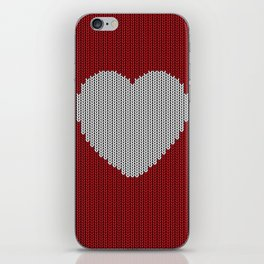 Wool Heart iPhone Skin
