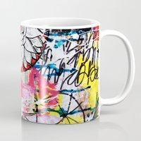 alisa burke Mugs featuring mixed media doodles by Alisa Burke