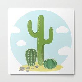 Cactusland Metal Print