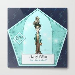 HarryPotter Chocolate Frog Card Metal Print