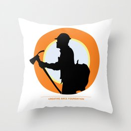 Creative Acre Foundation (CAF) Support poster Throw Pillow