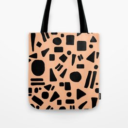 Peach and Black Tote Bag