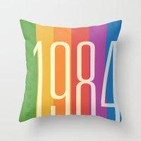 1984 Throw Pillows featuring 1984 (v) by Dan Rubin