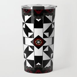 MultiGeometical Pattern mini Gold and Pewter Mandalas Travel Mug
