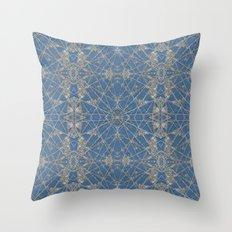 Frozen Blue Throw Pillow