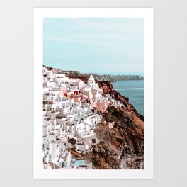 Santorini Greece, Fira Art Print