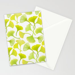 First Day of Autumn Ginkgo Leaves Stationery Cards