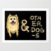 Sam & Other Dogs Art Print