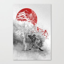 The warrior and the wind Canvas Print