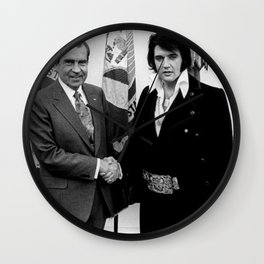 Richard Nixon And Elvis Wall Clock
