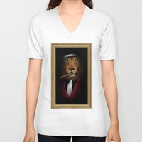 godfather V-neck T-shirts featuring the godfather by Natasha79