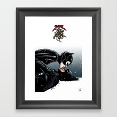 The Bat and the Cat Framed Art Print