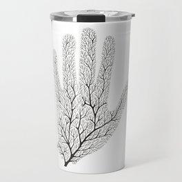 Hand Branches - Black Travel Mug