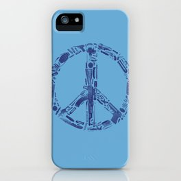 Find Peace (Blue) iPhone Case