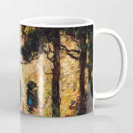 Romantic Parisian Floral Enchanted Garden Scene, Solitary Thoughts by Thomas Edwin Mostyn Coffee Mug