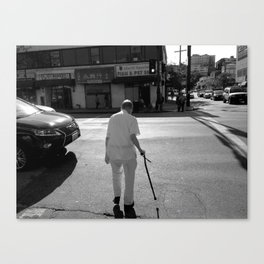 Walk This Way | Monochrome Canvas Print