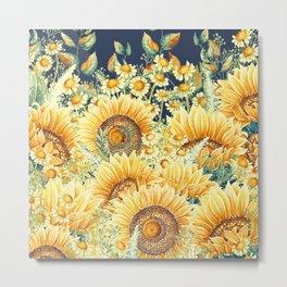 Vintage Garden (Sunflower Paradise) Metal Print