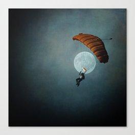 Skydiver's Moon Canvas Print