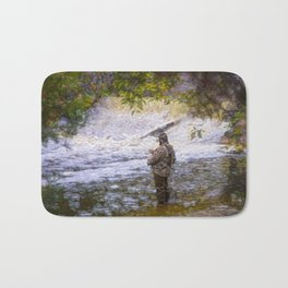 Trout fishing Bath Mat