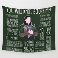 loki Wall Tapestries featuring Loki by MacGuffin Designs