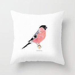 Siberian Bullfinch (white palette) Throw Pillow