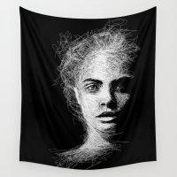 cara Wall Tapestries featuring CARA by naidl