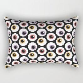 Pixel Eyeballs Rectangular Pillow