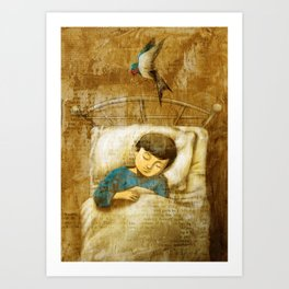 The Boy and the Swallow Art Print