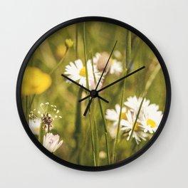 Flowers Wall Clock