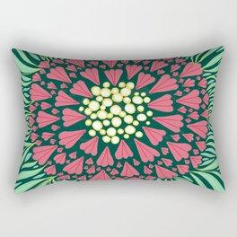 Pink and green florals Rectangular Pillow
