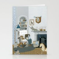 nursery Stationery Cards featuring Baby Animal Nursery by Yuliya