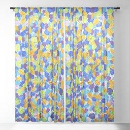 Abstract Spring 001 Sheer Curtain