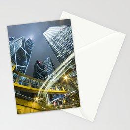 Hong Kong Night City Stationery Cards